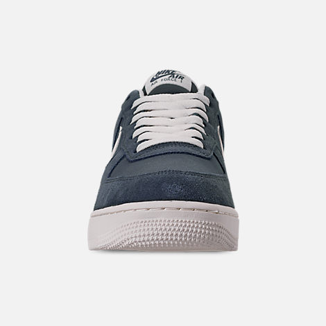 Front view of Men's Nike Air Force 1 '07 2 Casual Shoes in Monsoon Blue/Sail