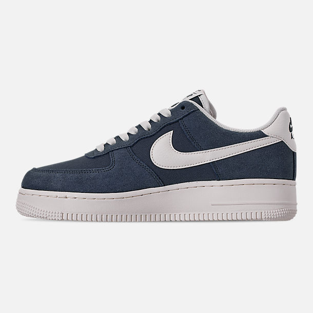 Left view of Men's Nike Air Force 1 '07 2 Casual Shoes in Monsoon Blue/Sail