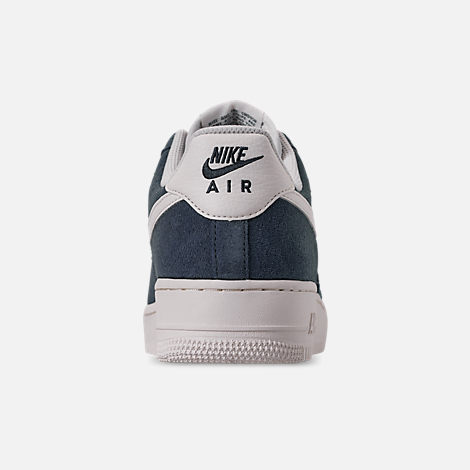 Back view of Men's Nike Air Force 1 '07 2 Casual Shoes in Monsoon Blue/Sail