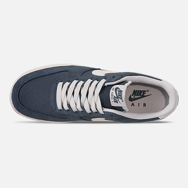 Top view of Men's Nike Air Force 1 '07 2 Casual Shoes in Monsoon Blue/Sail