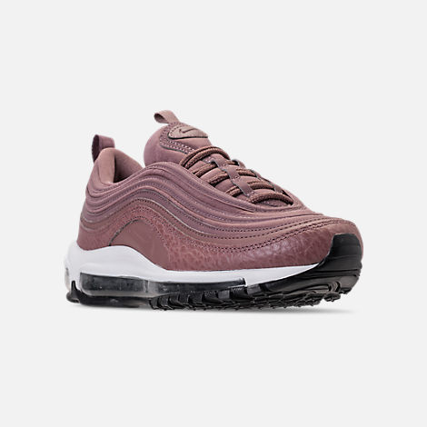 Three Quarter view of Women's Nike Air Max 97 Leather Casual Shoes