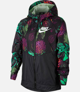 Kids' Nike Sportswear Floral Windrunner Full-Zip Jacket