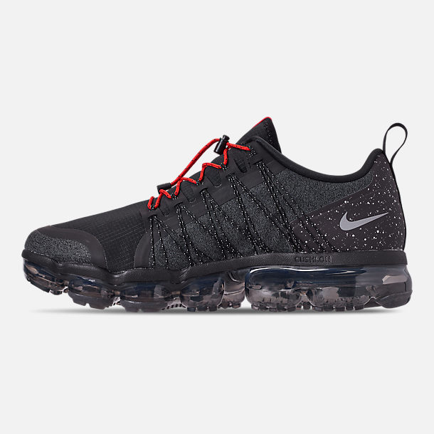Left view of Men's Nike Air VaporMax Run Utility Running Shoes in Black/Reflect Silver/Anthracite