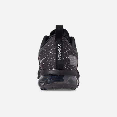 Back view of Men's Nike Air VaporMax Run Utility Running Shoes in Black/Reflect Silver/Anthracite