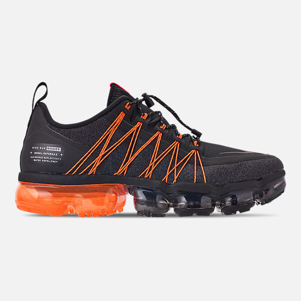 f150e15b5f9 Right view of Men s Nike Air VaporMax Run Utility Running Shoes in  Black Reflect Silver