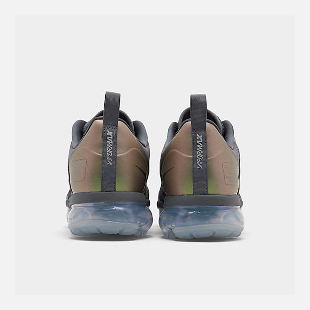 Left view of Men's Nike Air VaporMax Run Utility Running Shoes in Dark Grey/Amarillo/Black