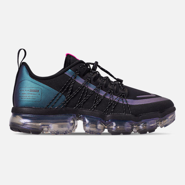 Right view of Men's Nike Air VaporMax Run Utility Running Shoes in Black/Laser Fuchsia/Anthracite