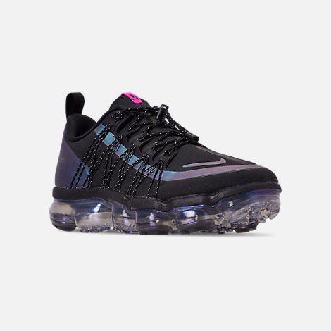 online store 18794 4c7fa Three Quarter view of Men s Nike Air VaporMax Run Utility Running Shoes in  Black Laser