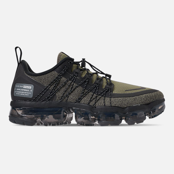 Right view of Men s Nike Air VaporMax Run Utility Running Shoes in Medium  Olive Reflect c8df59402