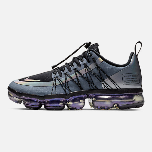 Right view of Men's Nike Air VaporMax Run Utility Running Shoes in Blue Dusk/Black/Anthracite