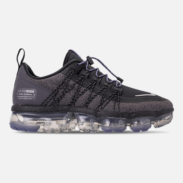 detailed look 6d01a a2b40 Right view of Women s Nike Air VaporMax Run Utility Running Shoes in  Black Reflect Silver