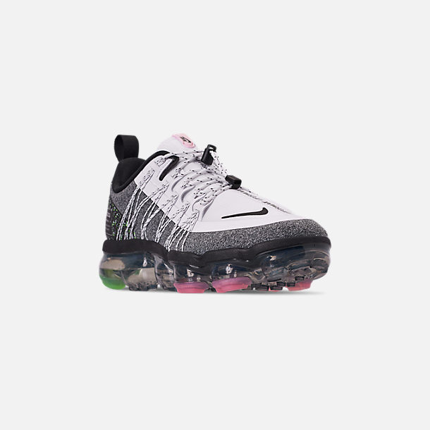 d98b5e04aecd Three Quarter view of Women s Nike Air VaporMax Run Utility Running Shoes  in White Black