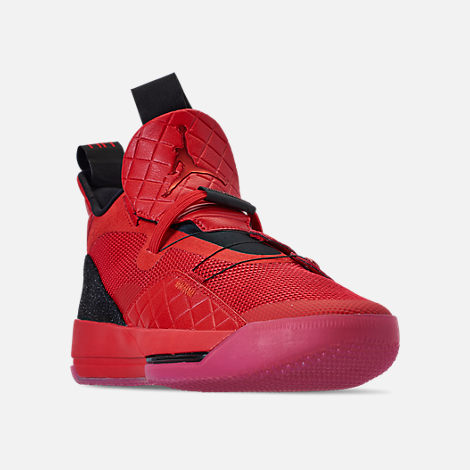 89e46dd5794de3 Three Quarter view of Men s Air Jordan XXXIII Basketball Shoes in  University Red University Red