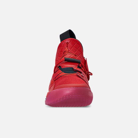 Front view of Men's Air Jordan XXXIII Basketball Shoes in University Red/University Red/Black/Sail