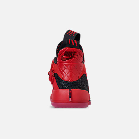 Back view of Men's Air Jordan XXXIII Basketball Shoes in University Red/University Red/Black/Sail