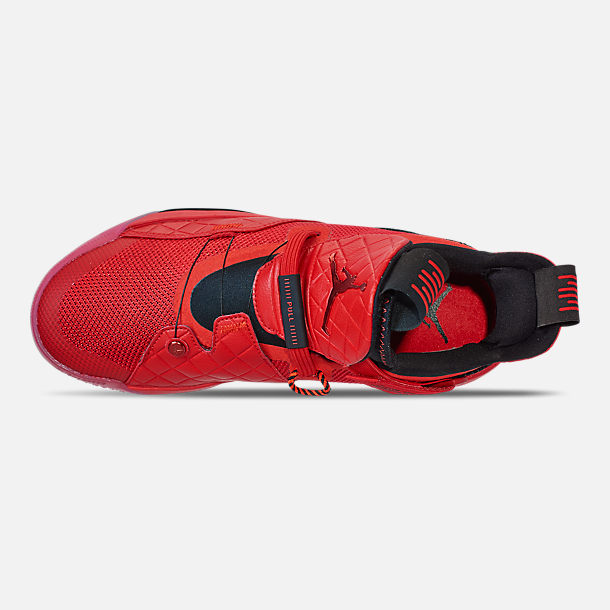 big sale c9644 573e7 Top view of Men s Air Jordan XXXIII Basketball Shoes in University Red University  Red
