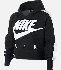 Girls' Nike Sportswear Cropped Fleece Hoodie
