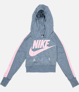 Girls' Nike Sportswear Cropped Fleece Hoodie