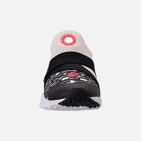 Front view of Big Kids' Nike Huarache Extreme Just Do It Print Casual Shoes in White/Bright Crimson/Black/Wolf Grey