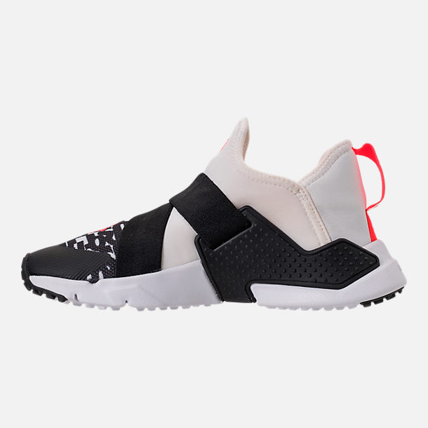 Left view of Big Kids' Nike Huarache Extreme Just Do It Print Casual Shoes in White/Bright Crimson/Black/Wolf Grey
