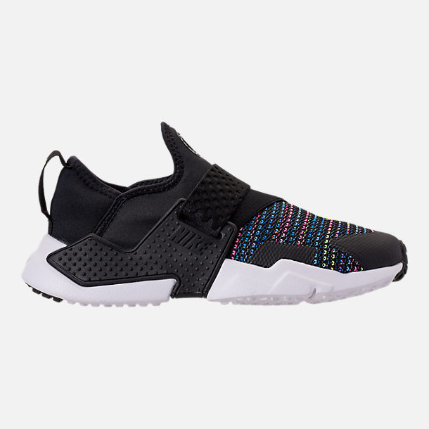 Right view of Big Kids' Nike Huarache Extreme SE Casual Shoes in Black/White/Racer Pink/Racer Blue