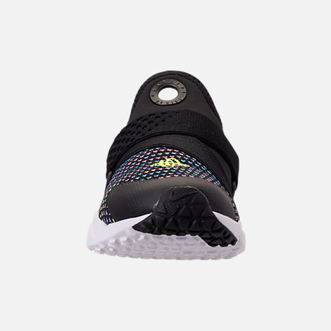 Front view of Boys' Grade School Nike Huarache Extreme SE Casual Shoes in Black/White/Racer Pink/Racer Blue