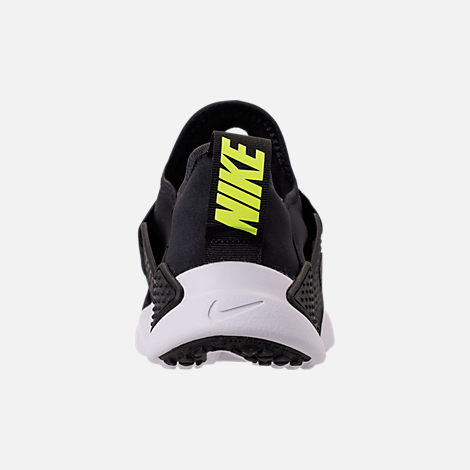 Back view of Boys' Grade School Nike Huarache Extreme SE Casual Shoes in Black/White/Racer Pink/Racer Blue