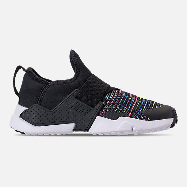 Right view of Little Kids' Nike Huarache Extreme SE Casual Shoes in Black/White/Racer Pink/Racer Blue