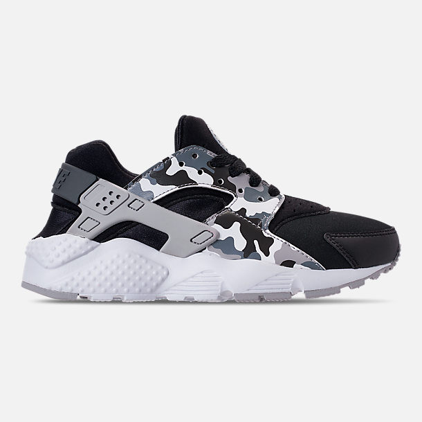 Right view of Boys' Grade School Nike Air Huarache Run Print Casual Shoes