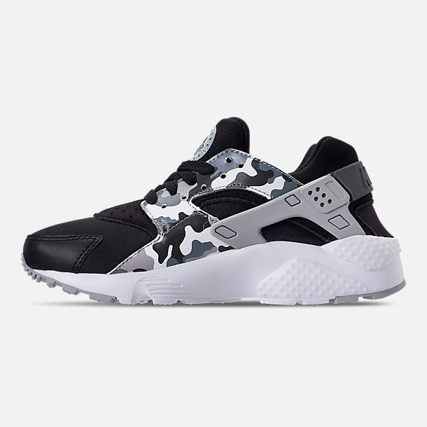 Left view of Boys' Grade School Nike Air Huarache Run Print Casual Shoes