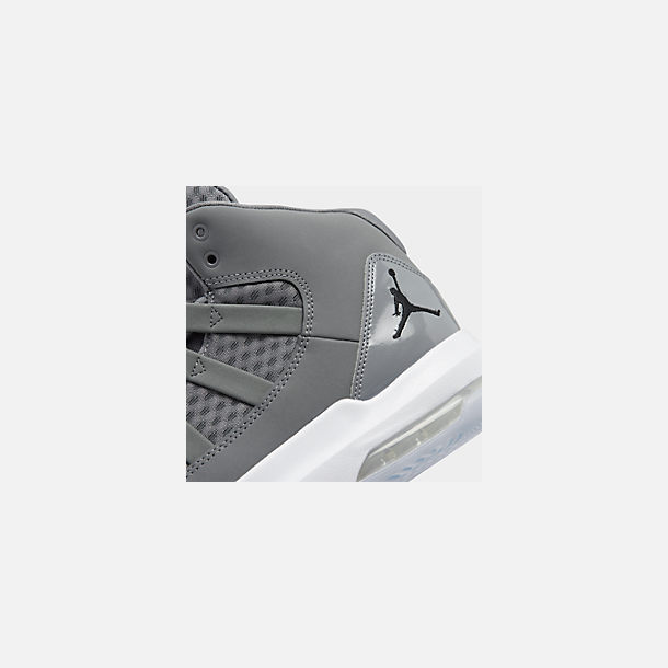 Front view of Men's Air Jordan Max Aura Off-Court Shoes in Cool Grey/Black/White/Clear
