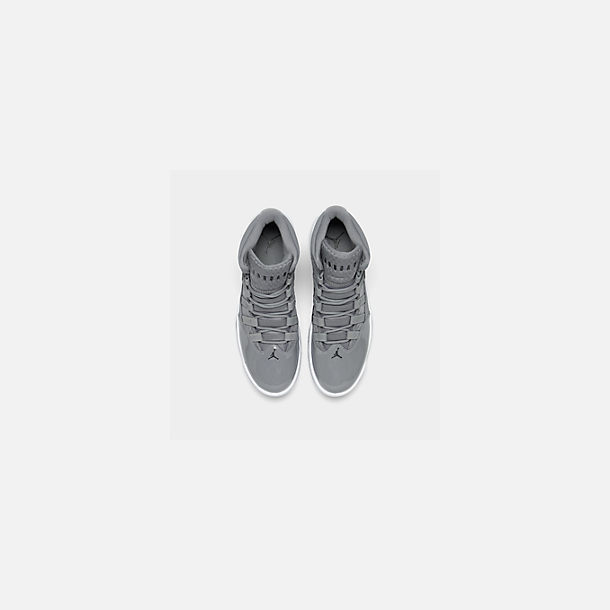 Back view of Men's Air Jordan Max Aura Off-Court Shoes in Cool Grey/Black/White/Clear