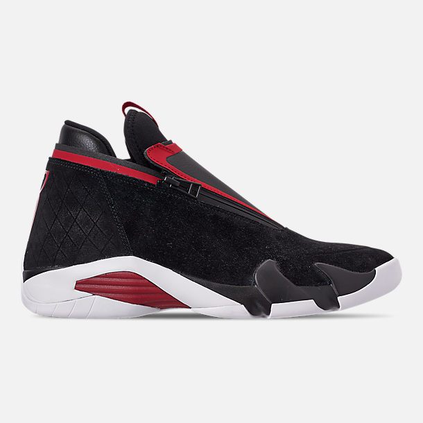 Right view of Men s Jordan Jumpman Z Basketball Shoes in Black Gym Red White 79ac1b26a