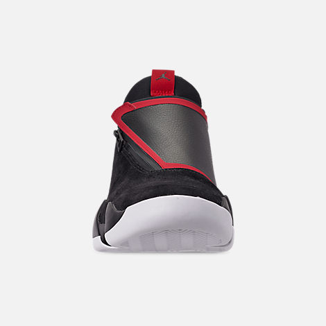 Front view of Men's Jordan Jumpman Z Basketball Shoes in Black/Gym Red/White