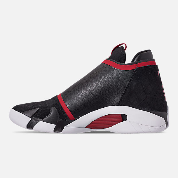 Left view of Men's Jordan Jumpman Z Basketball Shoes in Black/Gym Red/White