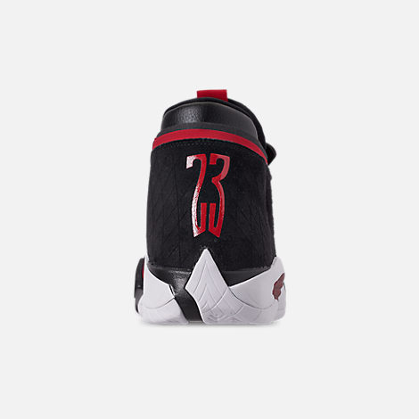 Back view of Men's Jordan Jumpman Z Basketball Shoes in Black/Gym Red/White