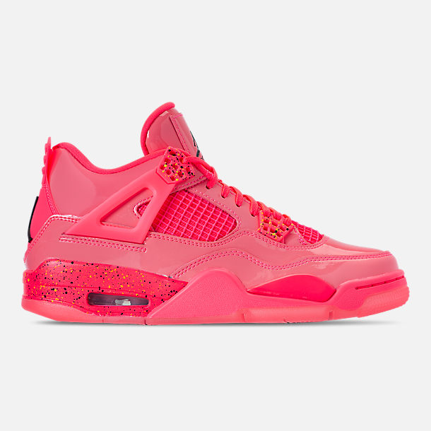 Right view of Women's Air Jordan Retro 4 NRG Basketball Shoes in Hot Punch/Black/Volight