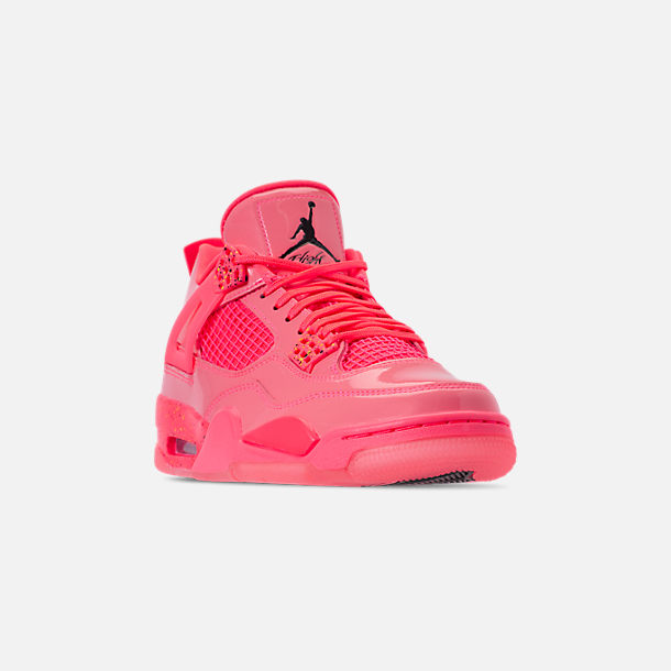 f11e22c91d7aa Three Quarter view of Women's Air Jordan Retro 4 NRG Basketball Shoes in Hot  Punch/