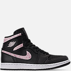 Women s Air Jordan Retro 1 Premium Basketball Shoes 0c0b1d39c