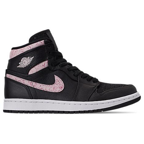 Nike Shoes WOMEN'S AIR JORDAN RETRO 1 PREMIUM BASKETBALL SHOES, BLACK