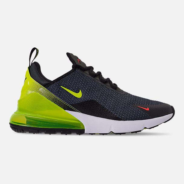 Right view of Men's Nike Air Max 270 SE Casual Shoes in Anthracite/Volt/Black/Bright Crimson