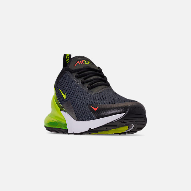 promo code f0f38 ab8d5 Three Quarter view of Men s Nike Air Max 270 SE Casual Shoes in Anthracite  Volt