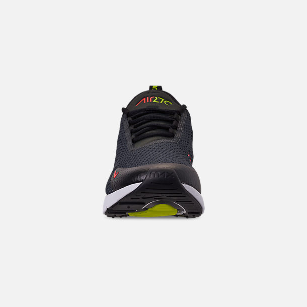 Front view of Men's Nike Air Max 270 SE Casual Shoes in Anthracite/Volt/Black/Bright Crimson