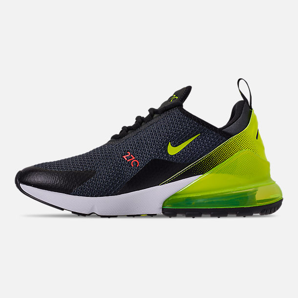 Left view of Men's Nike Air Max 270 SE Casual Shoes in Anthracite/Volt/Black/Bright Crimson