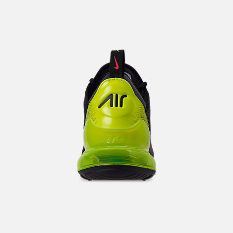 Back view of Men's Nike Air Max 270 SE Casual Shoes in Anthracite/Volt/Black/Bright Crimson