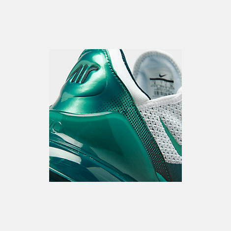 Front view of Men's Nike Air Max 270 SE Casual Shoes in White/Spirit Teal/Nightshade
