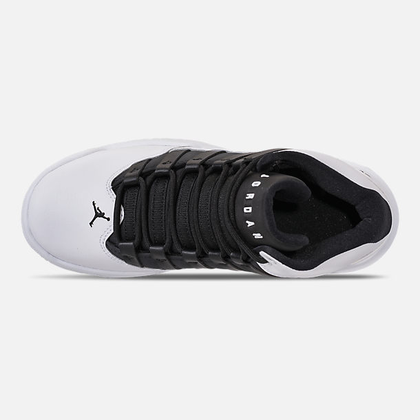 Top view of Boys' Big Kids' Air Jordan Max Aura Basketball Shoes in White/Black