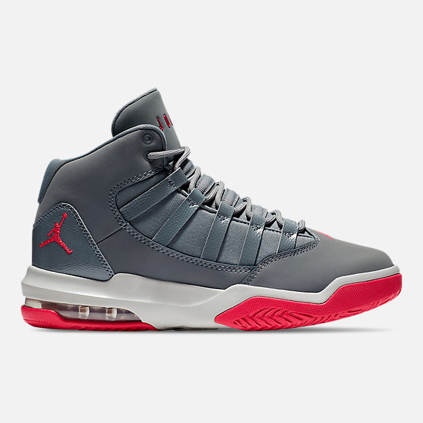 9f3bed865b Right view of Girls' Big Kids' Jordan Max Aura Basketball Shoes in Smokey  Grey