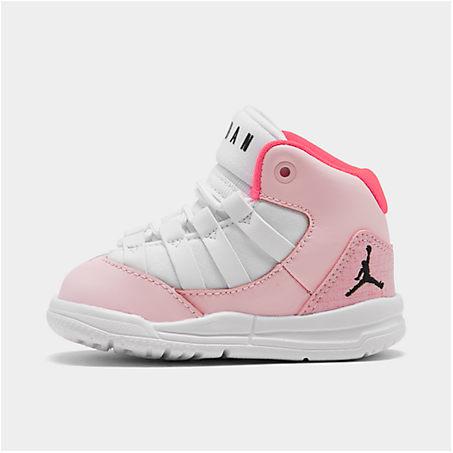 Babies' Jordan Girls' Toddler Jordan Max Aura Basketball Shoes In Pink/white
