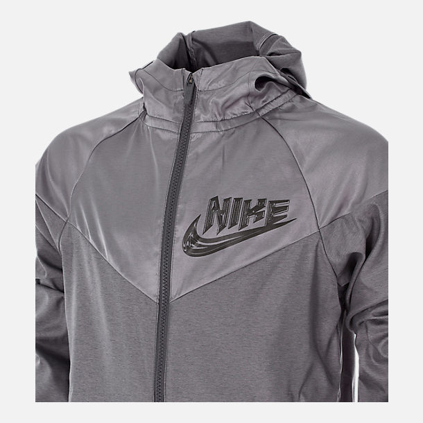 Back view of Boys' Nike Sportswear Energy Windrunner Jacket in Gunsmoke
